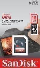 SDHC 16GB Sansdisk SDSDUNB-016G-GN3IN  Ultra do 48MB/s UHS-I CL10